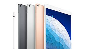 【iPad Air】两款新iPad在外观设计上并没有太多升级之处,没有采用全新iPad Pro上的全面屏设计,依然保留了标志性的Home键。苹果为新款iPad Air和新款iPad mini准备了银色、深空灰色、金色三个配色,分为64GB和256GB两个版本,此外两者均分为WiFi版和WiFi+蜂窝数据版。价格方面,新款iPad mini最低2999元,最高5199元;新款iPad Air最低3999元,最高达到6199元。